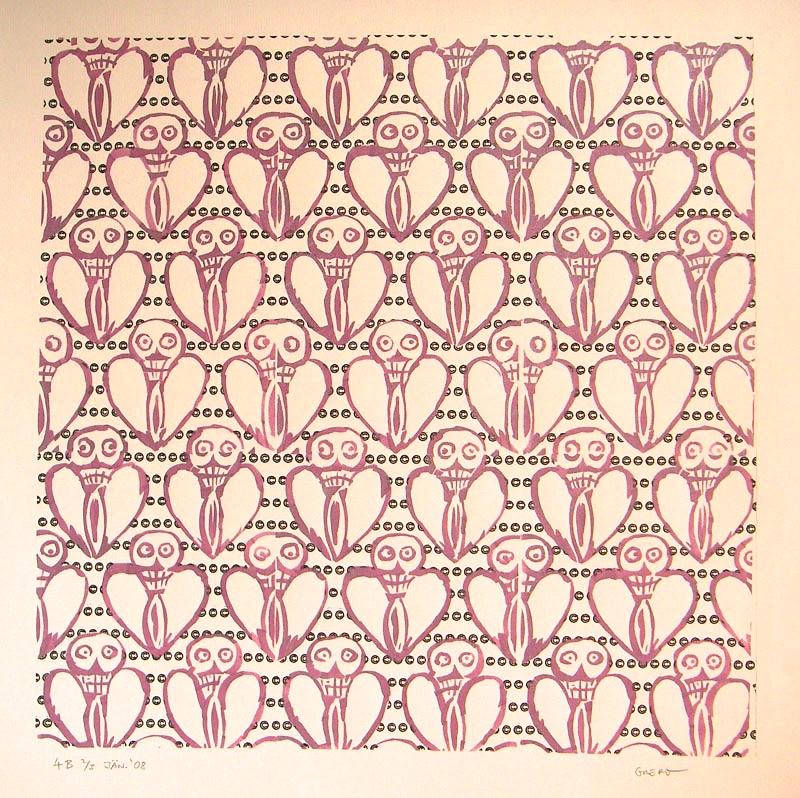 Schablone - Fotokopie - Textur 3