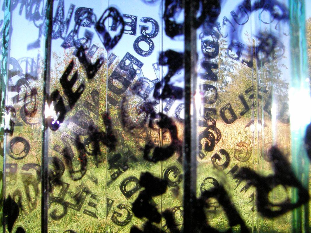 Glasstele für organischen Hintergrund - 2006