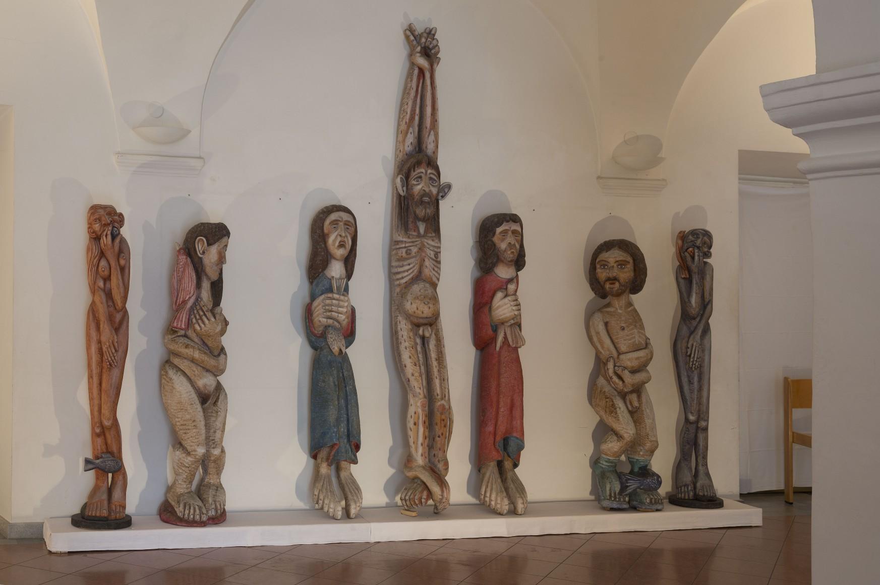 """Mitte: Triptychon """"Kreuzigung"""" / Diptychon """"Paar"""" / Diptychon """"Nur wer sündigt der weiss"""""""